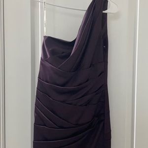 Beautiful deep purple special occasions dress
